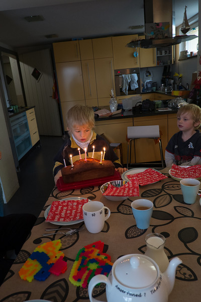 Sunday 14th October 2012 - It still makes me happy and smile when Cai blows out candles, something we never though he would ever be able to do