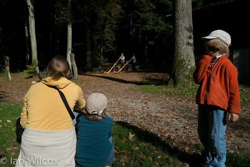 Sunday 21st October - We enjoy listening to the Alphorns