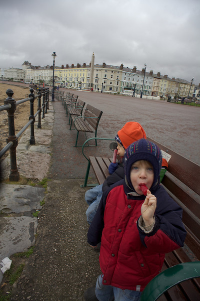 Sunday 19th Feb 2012 - It may have been cool but Luc still wanted an Ice lolly
