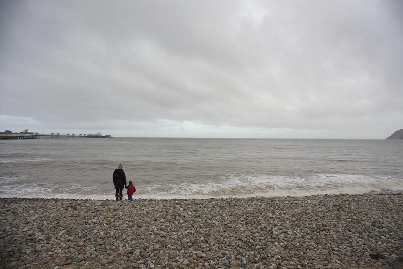 Sunday 19th Feb 2012 - kerstin and Luc look at LLandudno pier