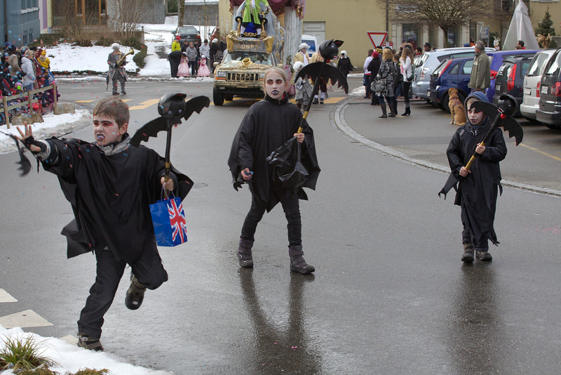 Sunday 26th Feb 2012 - Fasnacht 2012 throwing confetti