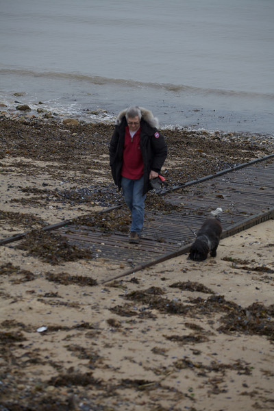 Sunday 19th Feb 2012 - I retreat  from the Beach after realising dogs aren't allowed on this part.