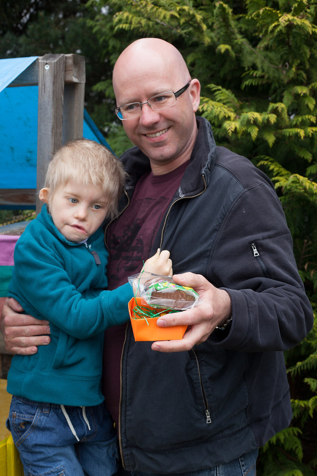 Tuesday 10th April 2012 - Chris Helps Cai find the Easter eggs