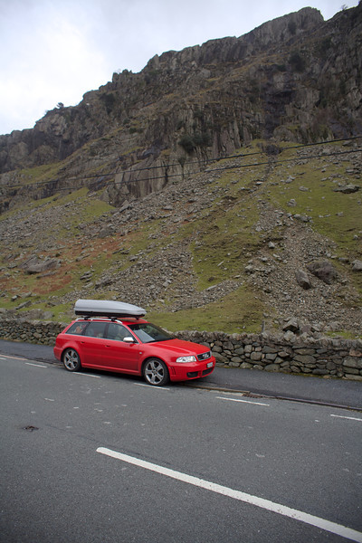 Sunday 19th Feb 2012 - The audi enjoys the roads and views