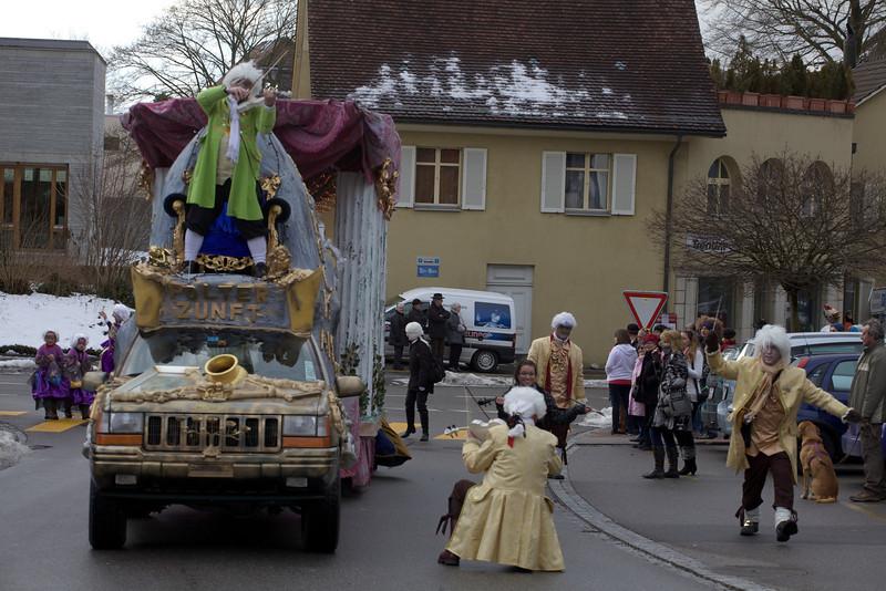 Sunday 26th Feb 2012 - Fasnacht 2012 an impromptu serenade