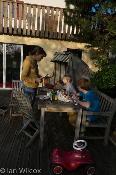 Sunday 21st October - Enjoying the last BBQ of the year.