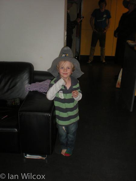 Monday 29th Oct - Luc tries an oktoberfest hat