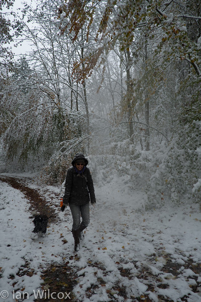 Monday 29th Oct - Kerstin after the snow shower
