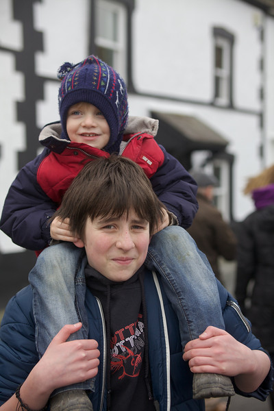 Sunday 19th Feb 2012 - Luc is steering Tyler by poking his fingers inside his ears