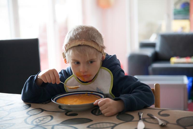 Sunday 25th November 2012 - Yum pumpkin soup lovely