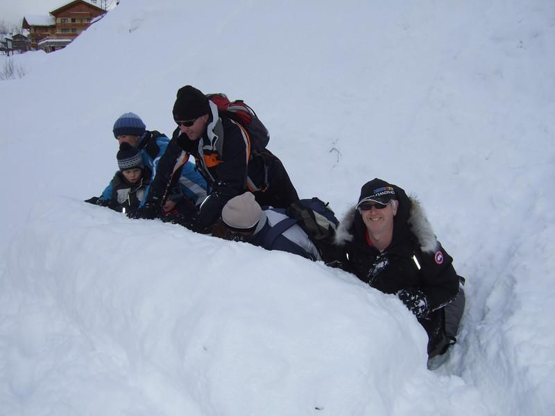 10th Jan 2012 - Team move fallen snow ball