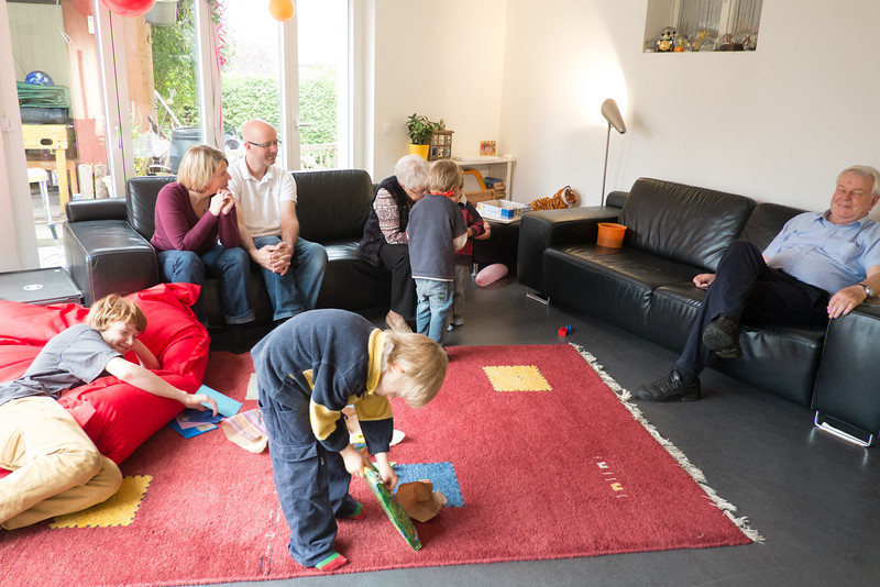 Sunday 14th October 2012 - Cai opens his presents