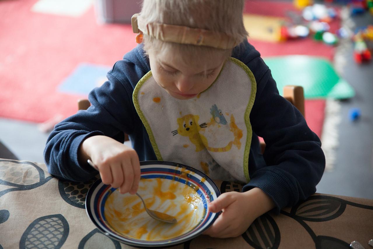 Sunday 25th November 2012 - Cai eats every last drop