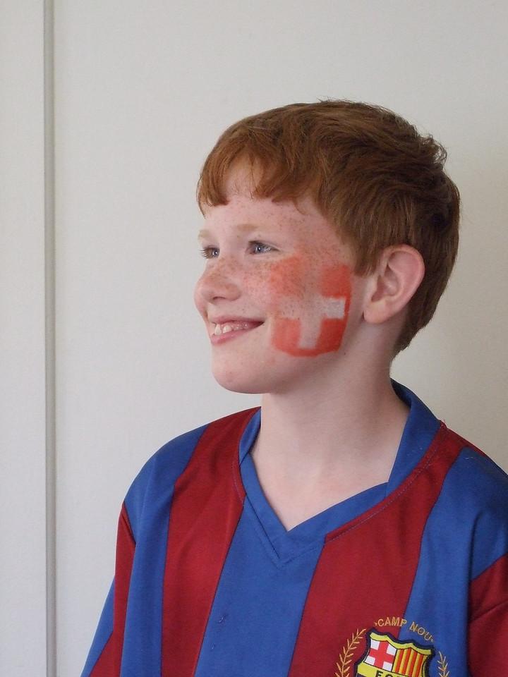 Sunday 1st June 2008 - Oliver gets warmed up for euro 2008