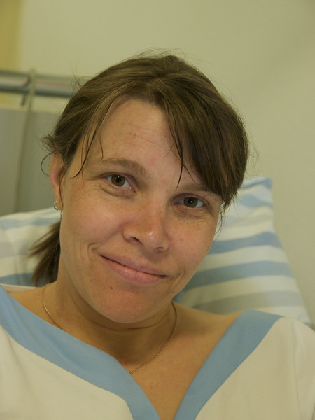 Wednesday 9th April 2008 - Kerstin also ordered a happy proud but tired parent face and is determined to show it off