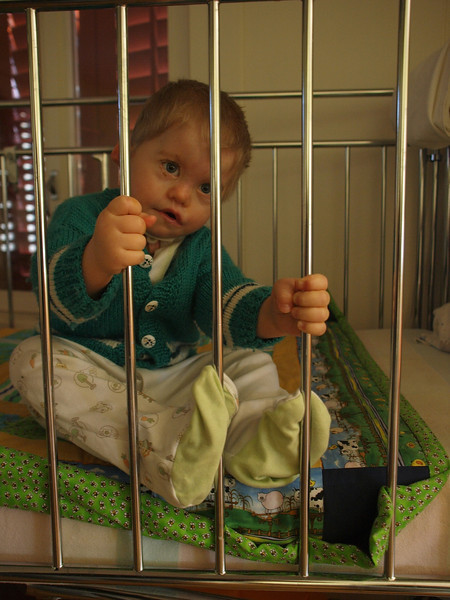 Monday 18th Feb 2008 - Don't worry Cai  - International rescue is on its way<br /> <br /> Cai is trapped behind bars, for a crime he didn't do who can save him?  see next picture
