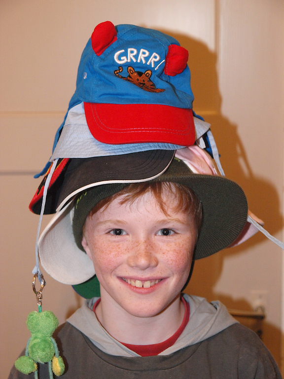 Friday 8th mar 2008 - oliver models the latest line of artic headgear