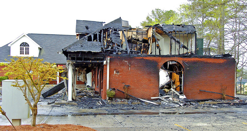 Douglas Firefighters quickly extinguished a blaze that destroyed most of the Autumn Village strip mall located at the corner of Hwy. 92 and Brickleberry Way in Douglasville.