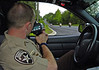 Paulding County Sheriff's HEAT Unit Deputy Jerrod Wall runs radar looking for motorcycle violations