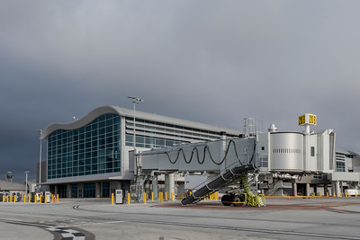 Los Angeles International Airport (LAX | LAWA) - Tom Bradley International Terminal - Midfield Satellite Concourse (MSC) on April 13, 2021. (Photo By Joshua Sudock)