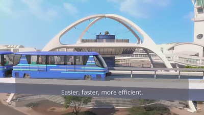 LAX Automated People Mover (with Captions)