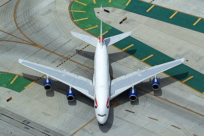 British Airways Airbus A380-841 G-XLEI 4-25-17 4