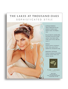 CARUSO AFFILIATES: THE LAKES PRINT AD: design/layout/production