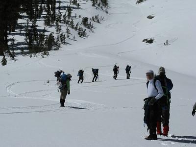 Kearsarge Peak  attempt, 4/4-5/09