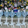 Hearts of Mercy & Compassion at the Surfside Memorial Site