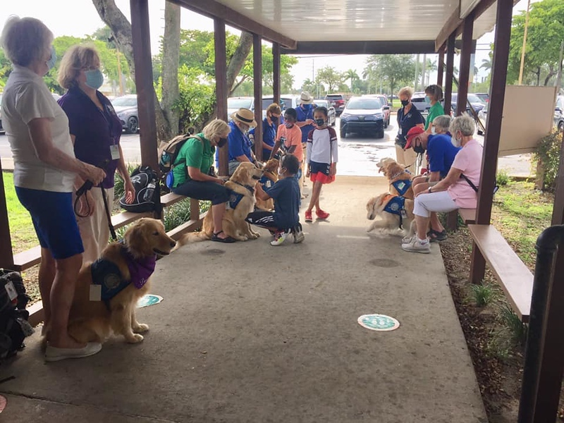 LCC K-9 Comfort Dogs Greeting Students at Holy Cross North Miami