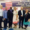From left, Pastor Vicente DalMaso, James Scott McGrath, LCC President Michael Ofori, all of Lowell, founder Cleusa Costa of Chelmsford, Danilo Brack of Lowell and Chairwoman Jamie Lynn Dillion of Worcester