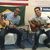 Guitarists Nathan Sigueira, left, of Chelmsford and Mauro Santiago of Dracut