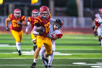 La Canada High School varsity football defeats the Glendale High School Nitros 33-3.