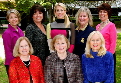 Top row from left: Susan Wempe, Debbie Tate, Julie Rodriguez, Mae Jackson, and Lisa McNamara. Bottom row from left: Ngaire Keene, Linda Litteken, and Susan Walsh.
