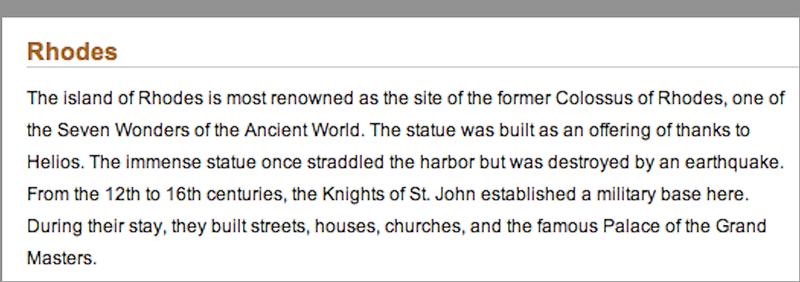 http://www.rhodestravels.com/  http://en.wikipedia.org/wiki/Rhodes  http://www.greecetravel.com/rhodes/