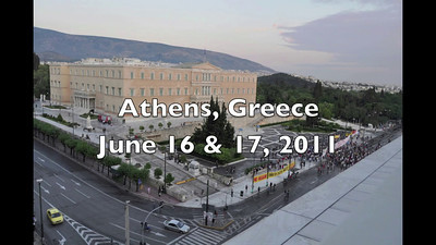 Athens - Changing of Guard & Demonstrators - Video # 2  http://ray-penny.smugmug.com/Vacation-2010-and-2011/Path-of-the-Ancient-Cultures/Video/11048677_3328dK#!i=1366002071&k=CfSNvjn&lb=1&s=L