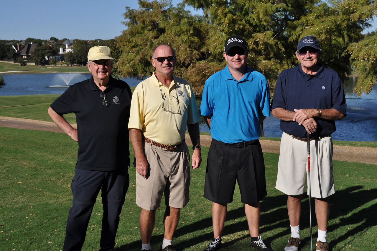 Ray, Al, Clay Keene (Ngaire's son) and Jim our esteemed golf prize winner.  What a dramatic finish he had!