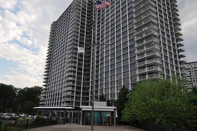 Condominiums adjacent to restaurant