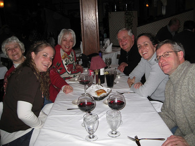 Lynn joined us for dinner prior to football game.  Middle daughter, Donna, Penny, Lynn, Ray, daughter #1, Lisa and son-in-law Matt.