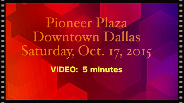"""Pioneer Plaza -Sat., Oct. 17, 2015 during """"RODEO"""" - Updated with music."""