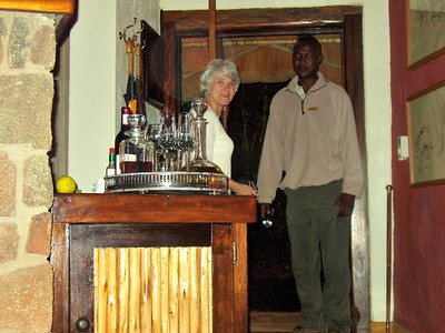 Because wild animals move at night around Singita we always had an escort from and to the lodge.  Never a problem.