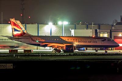 BA CityFlyer Embraer ERJ-190-100SR G-LCYX 11-22-19 2