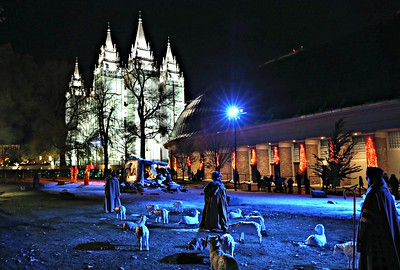Temple Square on Christmas