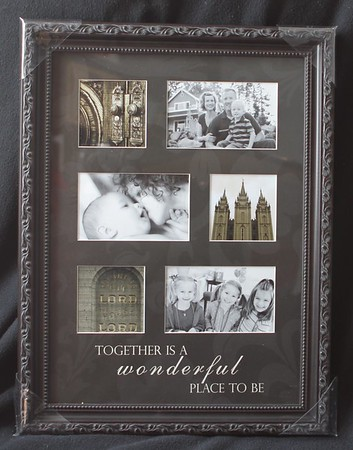$44.95 Choose 3 of your favorite temple photos and then add your own family photos to this 14x18