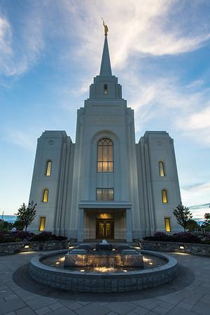 Brigham City Utah Temple Entrance (Sunset)