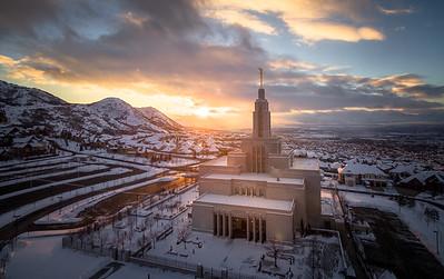 Winter Aerial Sunset