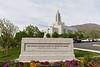 Draper Utah Temple Grounds and Sign