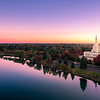 Idaho Falls Snake River Reflection, From On High