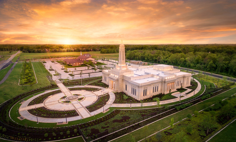 Indianapolis Indiana LDS Temple Aerial
