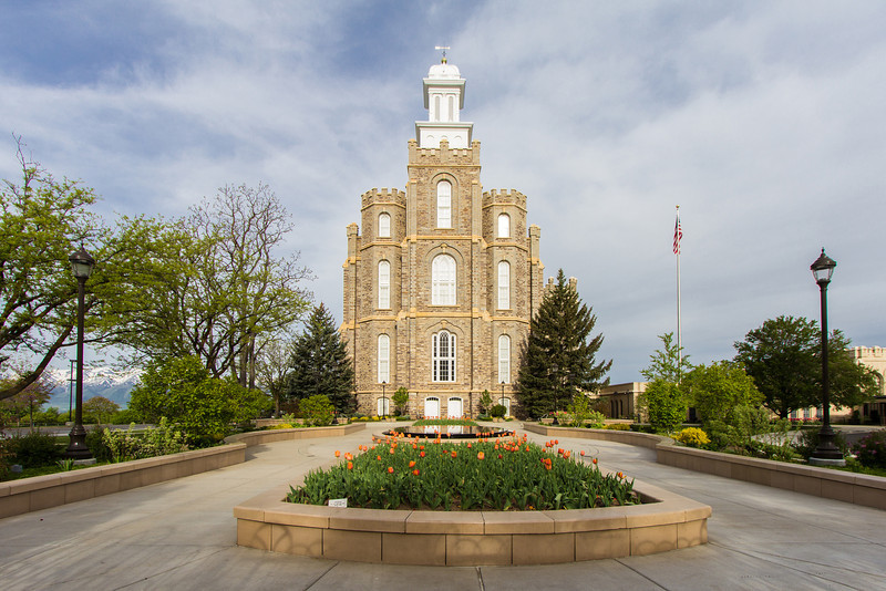 Logan Utah Temple Front (Morning)
